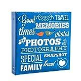 Arpan Grande Raccoglitore ad anelli slittamento In Photo Album detiene 500 6 × 4 '/ 10 × 15 cm - Blu