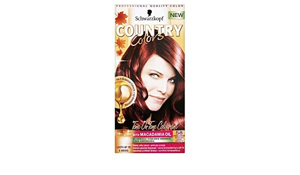 Schwarzkopf Country Colors - Haarfarbe Set - Kupferrot: Amazon.de ...