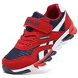 Yi Buy Zapatillas de Deporte Para Niño Velcro Trainers Ninos Zapatillas Ligeras Transpirables Deportes Zapatillas Para Caminar Al Aire Libre