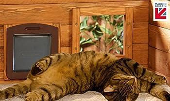 Chenil de chat extérieur auto chauffant et très grand avec fenêtre de confidentialité à sens unique