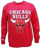 Mitchell & Ness Teamlogo Crew Pullover Men Chicago Bulls Rot, Größe:L