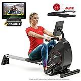 Sportstech Rudergerät RSX400 mit Smartphone APP, Pulsgurt inkl. - Rudermaschine für Ihr Zuhause, klappbar mit...