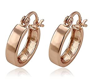 Via Mazzini Salman Khan Inspired Rose Gold Bali Hoop Earrings For Men