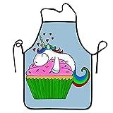 Hustor Delantal de Cocina diseño de Unicornio para Cupcakes, Ajustable y cómodo,...