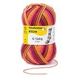 REGIA 6-fädig Color 9801285-06368 fire Handstrickgarn, Sockengarn, 150g Knäuel