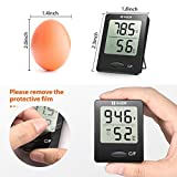 Habor Digital Thermometer Hygrometer , [Mini Style] Accurate Indoor Temperature and Humidity Meter Monitor with LCD Display for Home Office Comfort, Lifetime Replacement Guarantee (Black)