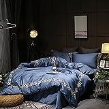 Four-piece european lace pure cotton bedding 1.8m american quilt cover-E 220x240cm(87x94inch)