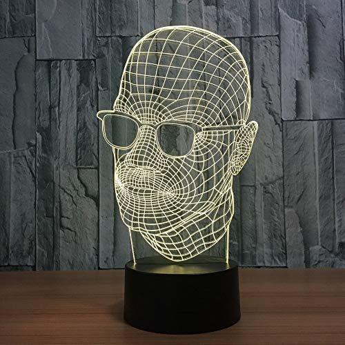 7 farben ändern neuheit acryl sonnenbrille mann modellierung 3d led schreibtisch tischlampe usb innendekor schlaf beleuchtung geschenke nachtlicht