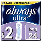 Always Ultra Long Binden (Größe2), Vorteilspack, 4er Pack (4 x 24 Stück)