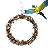 Vogel Spielzeug Rattan Gewebt Schaukel