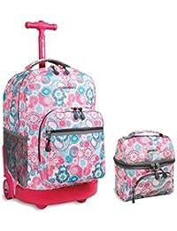 Preisvergleich für J World New York RBS-18, LB-03, Jungen Mädchen Unisex Kinder Kinderrucksack Blau/Rot Einheitsgröße