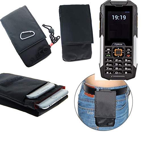 K-S-Trade® Gürtel Tasche Cyrus cm 16 Brusttasche Brustbeutel Schutz Hülle Smartphone Case Handy Schwarz Travel Bag Travel-Case Vertikal