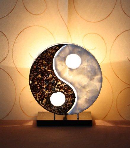 Asiatische Tischleuchten Yin Yang Classic XS (LA22-14/XS), Tischlampen, Designer Stimmungsleuchten, Bali (Yin-yang-stoff)