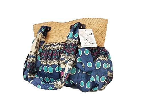 """La Loria donna borsa stile indiano """"Great Hippie"""" tasca, borsa a tracolla, borse a spalla, borse a tracolla, borse tote - blu blu"""