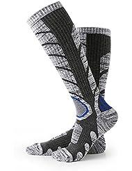 Calcetines para hombre de esquí, Escalada Outdoor Snowboard, Medias de algodón para deportes de invierno Nexlook (L 35-39) Gris