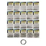 Rosco Sprengringe Edelstahl, Sprengring mit 4,3-29,5mm Durchmesser zur Auswahl, Springringe, rostfrei, Süßwasser & Salzwasser geeignet