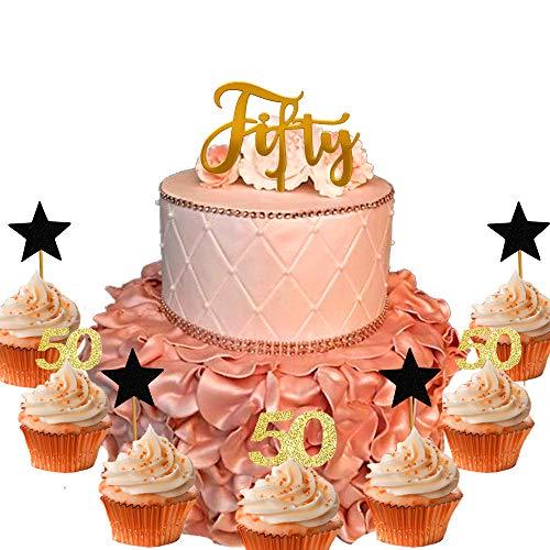 z zum 50. Geburtstag, Hello 50, Kuchendekoration, Dekoration für 50. Geburtstag, Hochzeit, Jahrestag, Party, Dekoration, Ideen, 21 Stück ()
