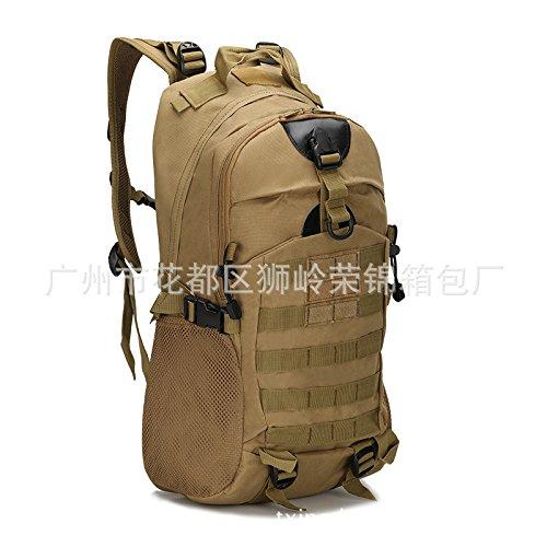 Camouflage Double Shoulder Bag wandern outdoor Bags wandern Taschen 48 * 32 * 16 cm, drei sand Camouflage Schlamm Farbe