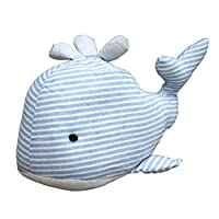 Interior Flair Pale Blue White Stripe Whale Sea Ocean Nautical Fabric Door Holder Stop