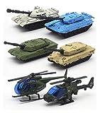 HorBous Legierung Armee Fahrzeugmodelle Auto Spielzeug, Mini Armee Spielzeug Tank, Jeep, Panzer, Pick-ups, Hubschrauber Spielset Etc. 6 Stück Set Car Modell Maßstab 1:64 (Tank)