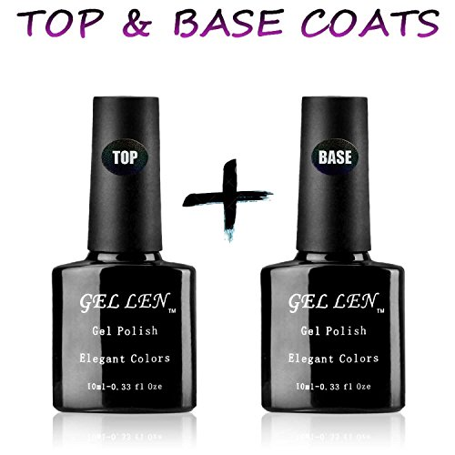 Gellen Top Coat und Base Coat UV /LED Lampe Unterlack(10ml) & Überlack(10ml)