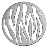 Amello Coins Edelstahl-Schmuck, Coin silber Muster - Coin für Amello Coinsfassung für Damen - - 30 mm, Größe M Edelstahlschmuck Stainless Steel ESC508J