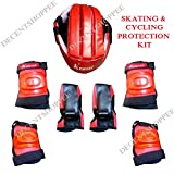 #3: Unik Skate & Cycling Protection KIT with Helmet, Knee, Elbow Guards, Gloves