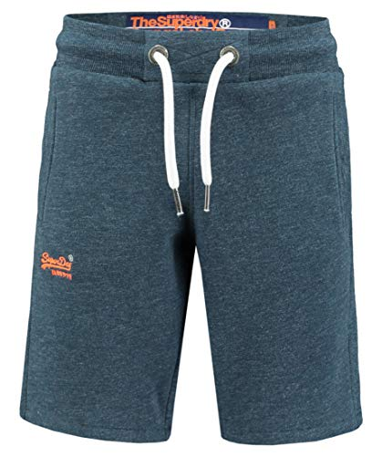 Superdry Herren Sweat-Bermudas Orange Label Sweat Short Slim Fit blau (51) XL