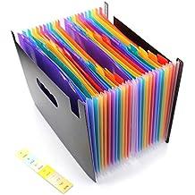 24bolsillos Ampliación carpeta de archivos/A4organizador de archivos ampliable/portátil acordeón carpeta de archivos