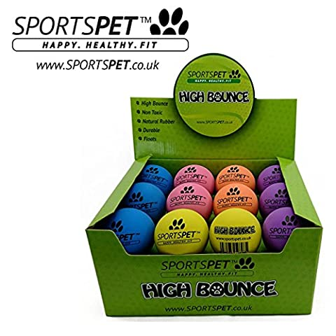 Sportspet haute Bounce Dog Balles Lot de 24