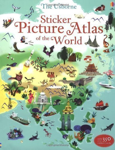 Sticker Picture Atlas of the World (Sticker Book) by Sam Lake (2013)