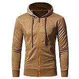 Sweatshirt Herren Männer Retro Reißverschluss Langarm Pullover Hooded Streetwear Tops Jacke Mantel Outwear SANFASHION