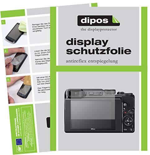 dipos I 2X Schutzfolie matt passend für Nikon Coolpix A1000 Folie Displayschutzfolie