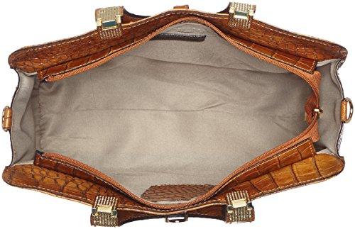 Borsa Donna Ctm Classica Con Stampa Cocco, 37x26x14cm, Vera Pelle 100% Made In Italy Orange (cuoio)