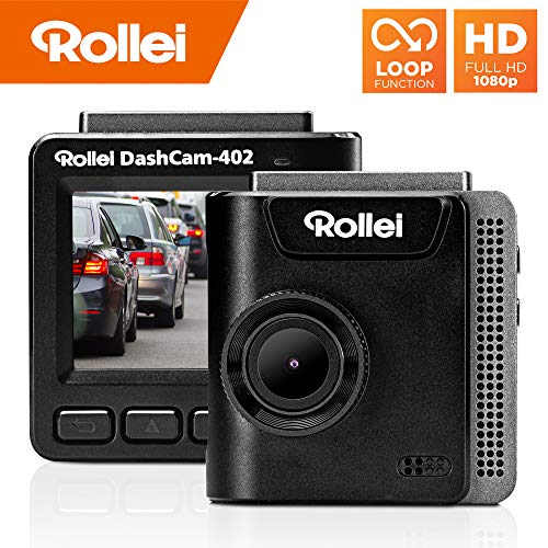 Rollei Dashcam 402 mit GPS und G-Sensor | 1080p FULL-HD Mini Autokamera für vorne und hinten - die Auto Kamera dient zur Überwachung und Parküberwachung | Dash Cam Video-Registrator mit Loop Funktion