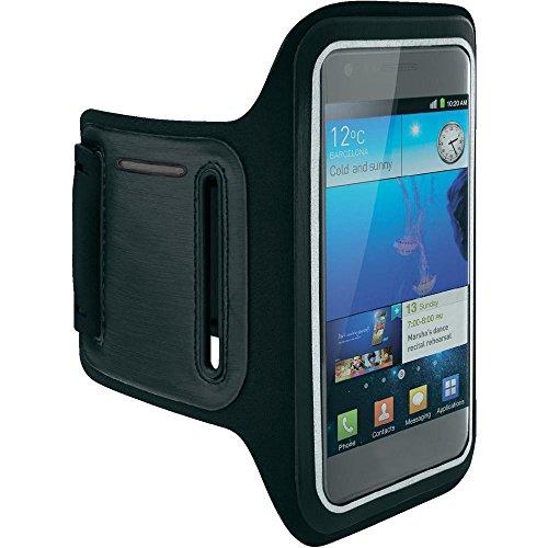 Ownstyle4you - Fascia da braccio porta cellulare per corsa e jogging in neoprene Nero per LG MAGNA H500F / Custodia Sport armband for running