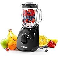 BESTEK Mixeur Bol en Verre de 1,5L sans BPA 750W Blender avec Poignée Soupe Smoothie Jus de Fruits