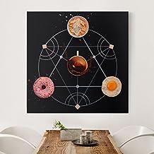Bilderwelten Cuadro en lienzo - Breakfast alchemy - Cuadrado 1:1, cuadros cuadro lienzo cuadro sobre lienzo cuadro moderno cuadro decoracion cuadros decorativos cuadro xxl, Tamaño: 40 x 40cm