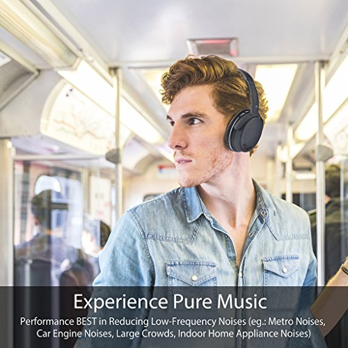 Avantree ANC032 Bluetooth 4.1 Active Noise Cancelling Kopfhörer mit Mikrofon, Wireless Wired Superleicht Komfortabel Klappbar Stereo ANC Over Ear Headset für Handys PC TV - 3