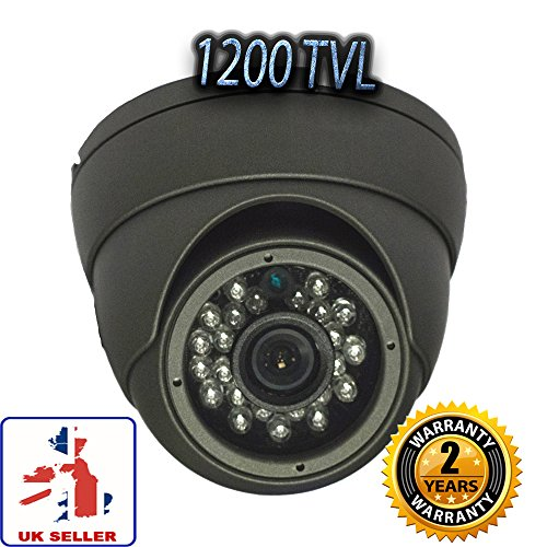 1200 TVL per telecamera a circuito chiuso - a cupola, in metallo solido, Grandangolo, a (Tvl Telecamera Bullet)