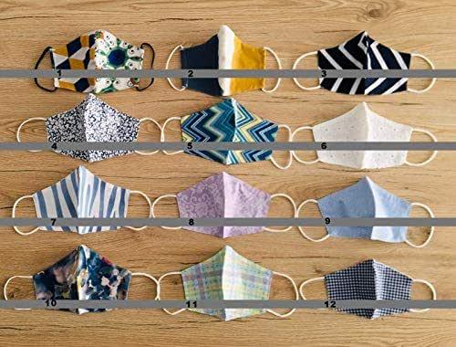 Tina Codazzo Home Crea il tuo set mascherine a beccuccio in cotone multiuso lavabile fantasie assortite, set 4 pezzi