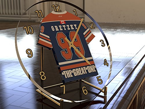 WAYNE GRETZKY THE GREAT ONE - EDMONTON OILERS NHL EISHOCKEY JERSEY UHREN !!!!!