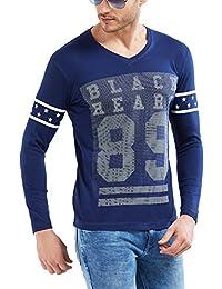 Maniac Mens Fullsleeve V-Neck Cotton Tshirt