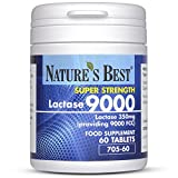 Nature's Best Lactase 9000 FCC Enzyme Units   Fast Acting Natural Enzyme Tablets and 100% UK- Made