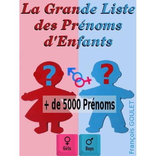 La Grande Liste des Prénoms d'Enfants
