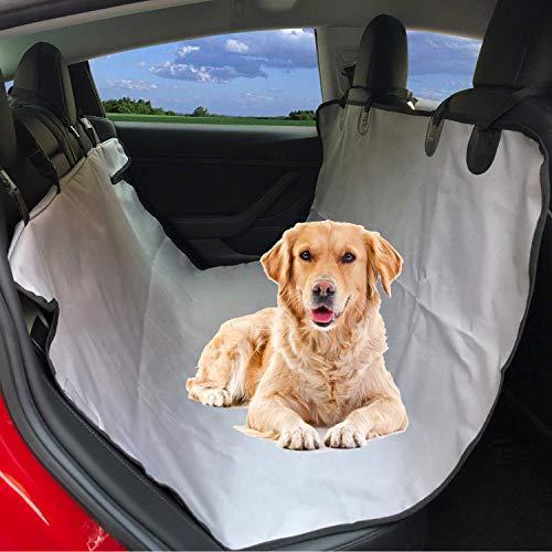BMZX Autositzbezug mit Hängematte für Haustiere, strapazierfähig, Kratzfest, für Kofferraum, Haustiere, Rücksitzbezüge für Tesla Modell S Modell 3