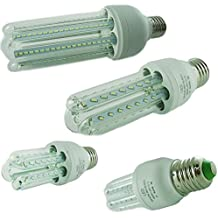 KIT 4 LAMPADINE LED ATTACCO E27 12W = 120W FARETTO LUCE BIANCO FREDDO 6500K LUNGA (Illuminazione interna)