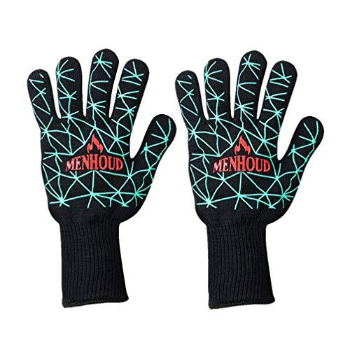 UPKOCH gants de four bbq gants de fibre d'aramide portative durable prime isolants adiabatiques pour la protection cuisson cuisson four four