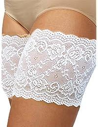 Bandelettes (bandas de encaje elástico para evitar el roce de los muslos) (E, Blanco)
