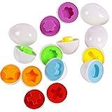 Leisial-Set-de-6-Huevos-Aprender-Juegos-Educativos-Juguetes-Mixed-Mezcl-la-Forma-Sabia-Puzzle-para-Beb-Nios